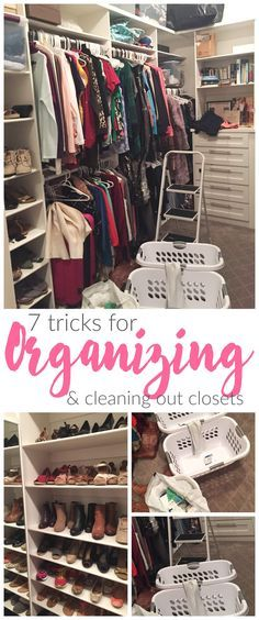 7 Tricks for Organizing Your Closet! Organization Tips to help de-clutter!