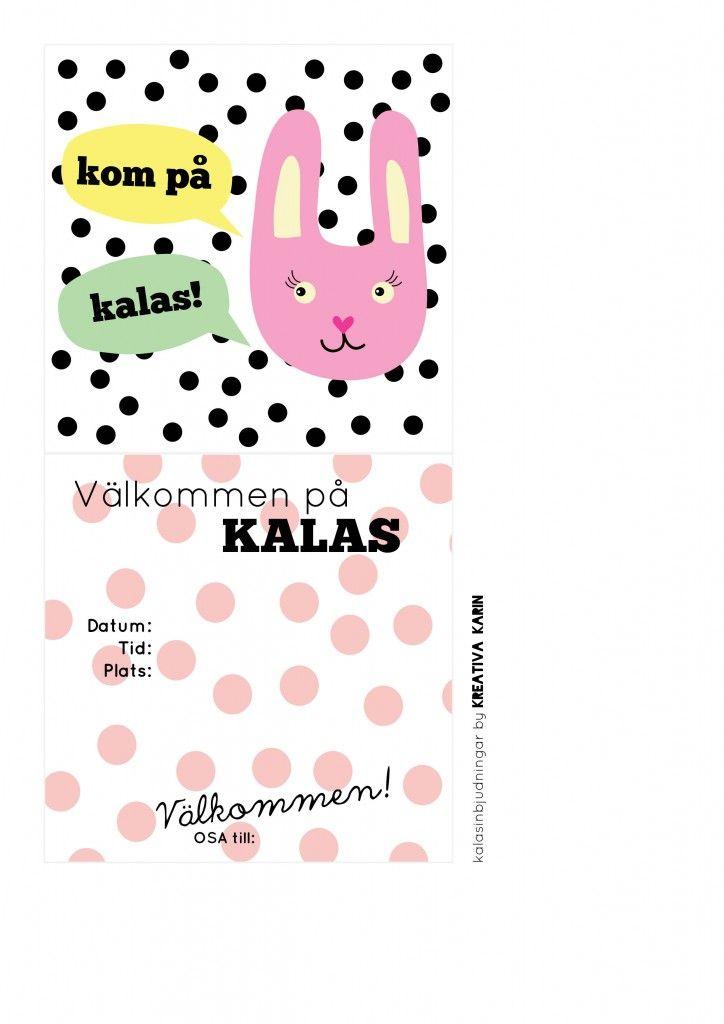 Kalasinbjudan- mall att ladda ner - DIY, pyssel & prints