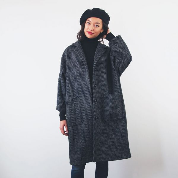 Winter Coat Pattern Sewing, Long Winter Coat Sewing Pattern