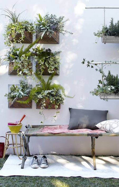pinned by barefootstyling.com wall garden..