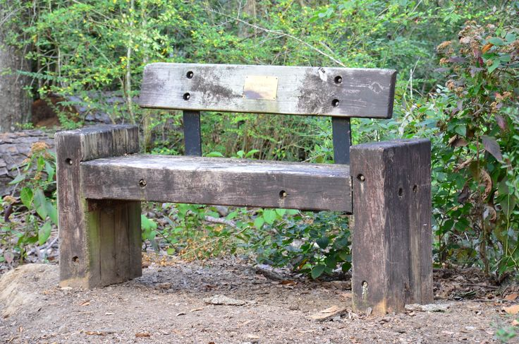 Old Bench Made With Railroad Ties Outdoor Furniture