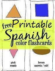 FREE Printable Spanish Flashcards