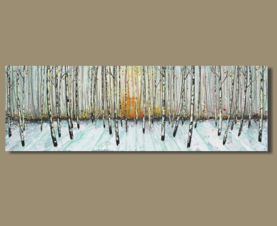 White Tree Abstract Painting