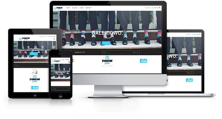 Responsywny sklep internetowy z odzieżą PowPow zaprojektowany i wykonany przez WiWi #responsive #design #webdesign #inspiration #Responsive #Web #layout