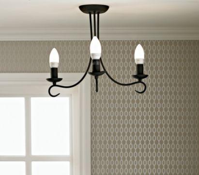 Ama 3 Light Semi Flush Ceiling Light, 0000005265282