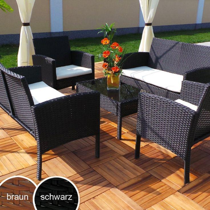 Superb Gruppo di sedute da giardino in polirattan Rio XXL Swing uHarmonie Polyrattan
