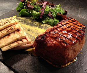 Marinated Pork Chops - from Peterstone Court hotel in the Brecon Beacons  http://www.rarebits.co.uk/recipes-marinated-pork-chops
