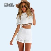 Señoras vestido de verano borla ahueca hacia fuera blanco vestidos 2 unidades corto sin espalda vestido bodycon envío de la gota