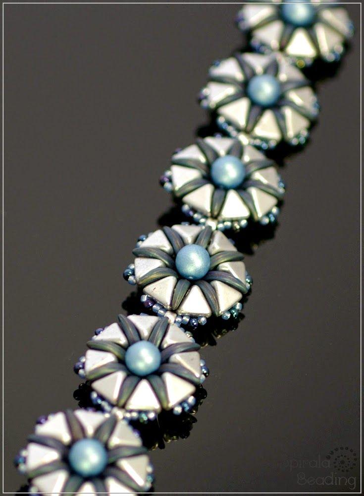 Spirala beading: Devil´s Flowers - bracelet