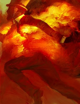 Tobias Kwan: Inspiration, Tobias Kwan, Illustrations, Pretty Things, Flames Lincoln, Paintings, Black Art, Fire, Art Sake