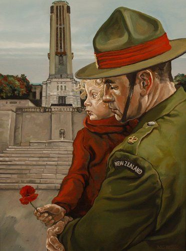 At Rest, Capt Matt Gauldie, 2006, oil on canvas, New Zealand Army Art Collection