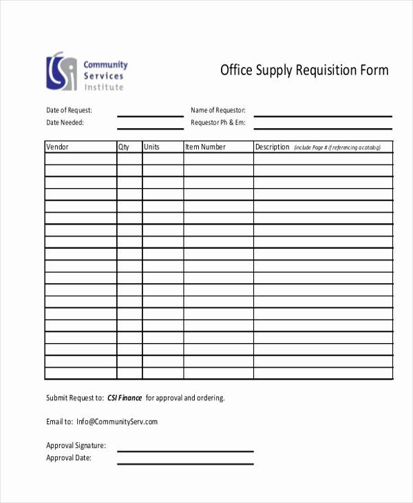 Office Supplies Request Form In 2020 Printable Place Cards
