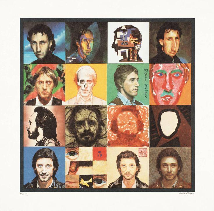 Peter Blake, 'Illustration to the cover of 'Face Dances'' 1981