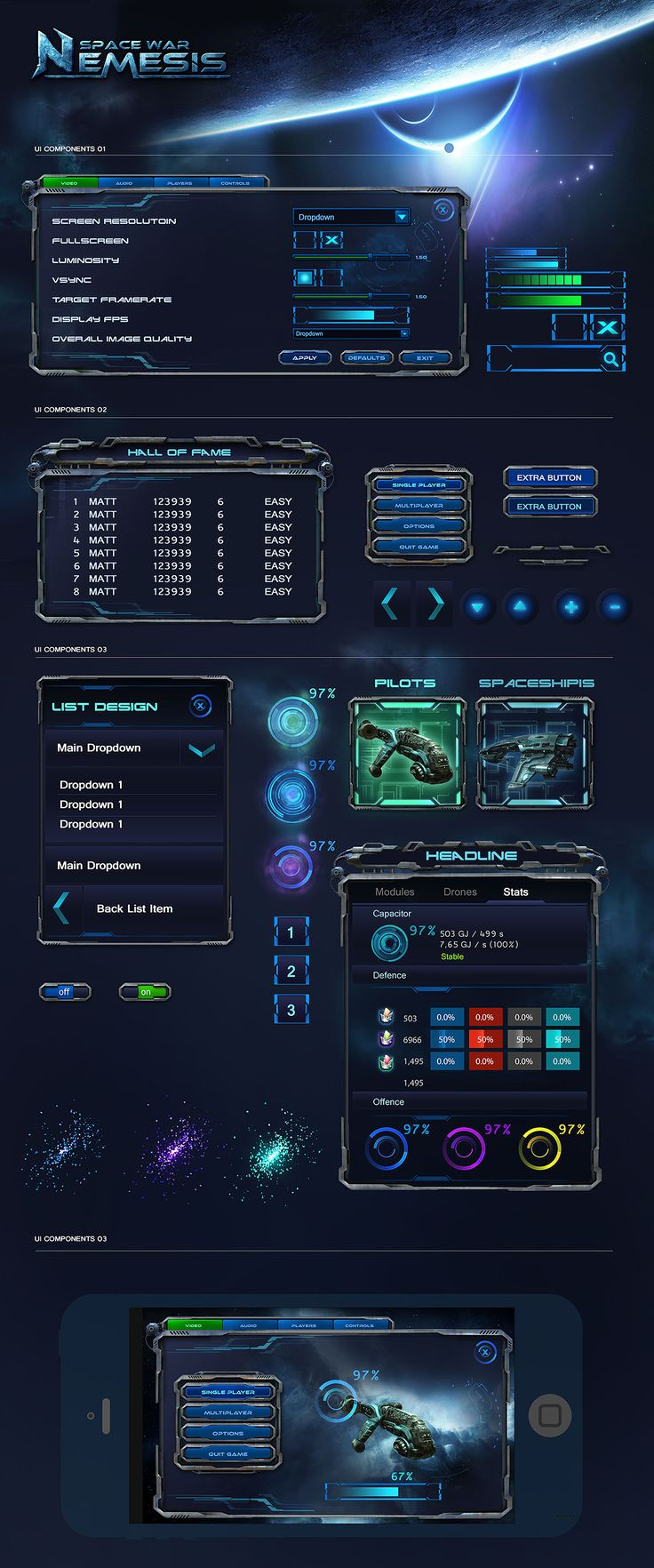 Sci Fi Game UI                                                                                                                                                                                 More