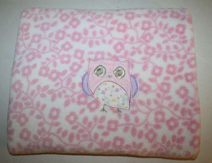 Target Circo Pink Owl Baby Blanket Floral Flower Plush