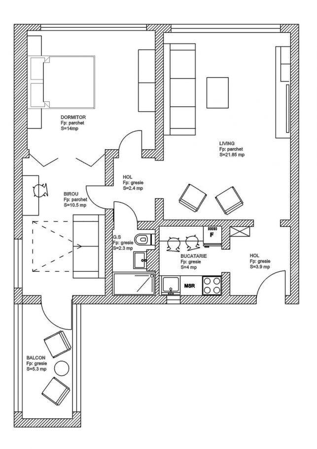 Amenajarea moderna a unui apartament de 60 mp din Bucuresti- Inspiratie in amenajarea casei - www.povesteacasei.ro