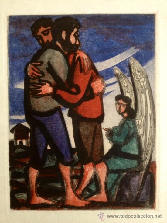 Magnífico grabado de Max Hunziker (1901 Zürich 1976), (Arte - Arte Religioso - Grabados)