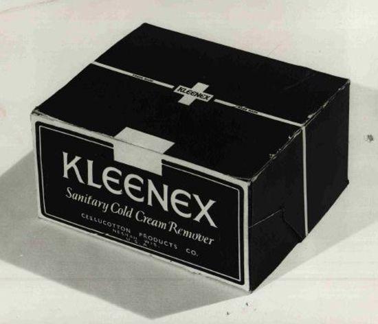 クリネックス、初期のパッケージ1924