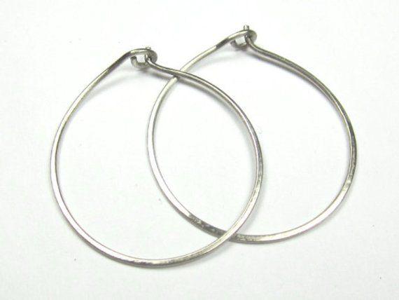 14k Solid Gold Hoop Earrings Large