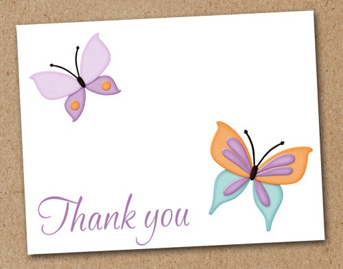 Personalized Butterfly Note Cards set of 8 by Luv2ScrapForU, $9.50