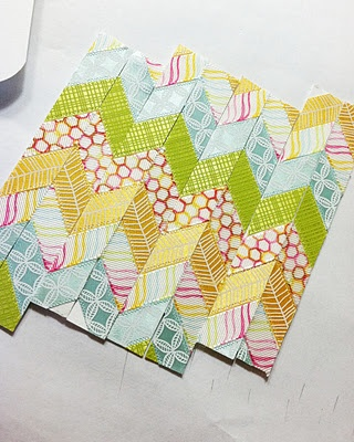 Fantastic tutorial on making a chevron pattern using ribbon.  Very simple and super cute!!