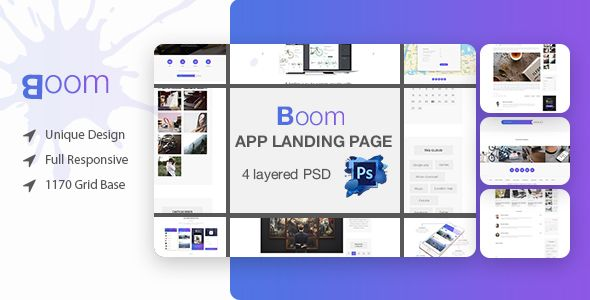 Boom Mobile App Landing Page PSD Template - Marketing Corporate Download here : https://themeforest.net/item/boom-mobile-app-landing-page-psd-template/19859273?s_rank=122&ref=Al-fatih #psd template #web design #web responsive #psd #blog #business #flat #design #personal #shop #health #trend #technology