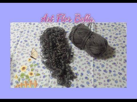 Tutorial: Como fazer cabelo de boneca de lã cacheado.