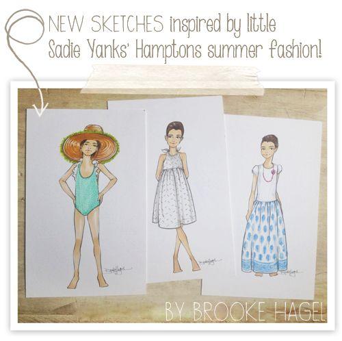 Fabulous Doodles: Child Fashion Illustrations {Sadie Yanks}