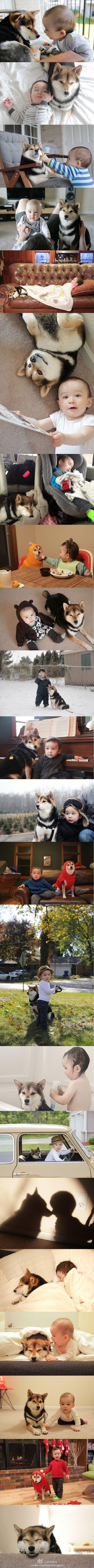 baby Issa and puppy Maru <3