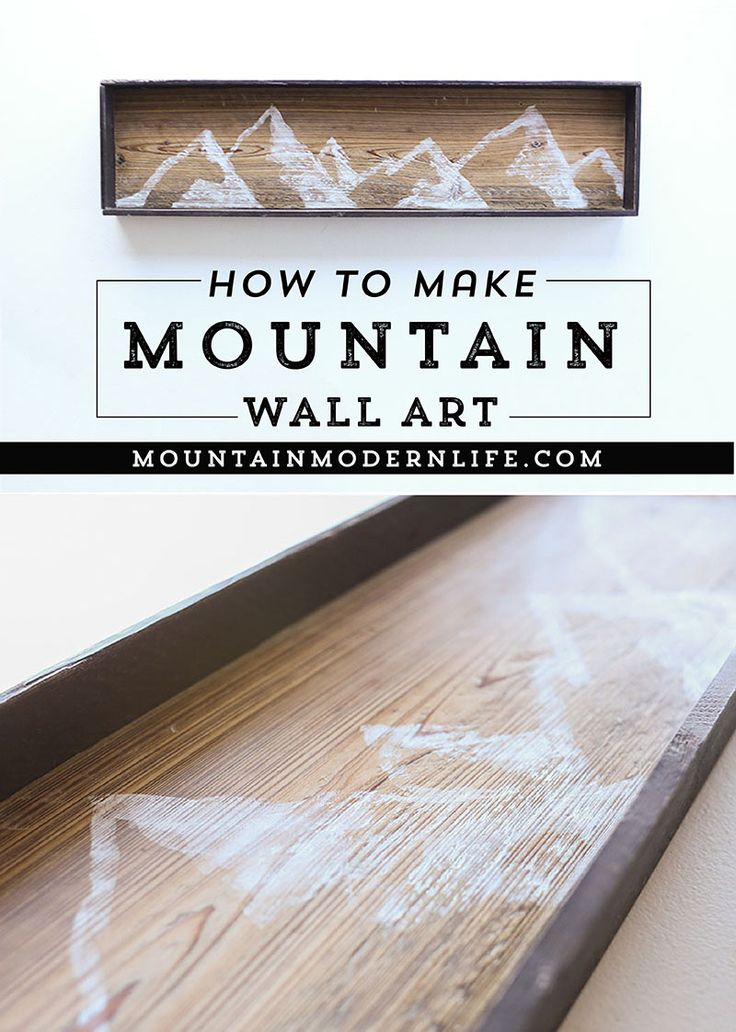 See how easy it is to create this mountain wall art using reclaimed wood. MountainModernLife.com via @MtnModernLife