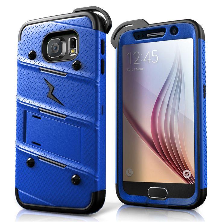 Bolt hybrid case for samsung galaxy s6 blue