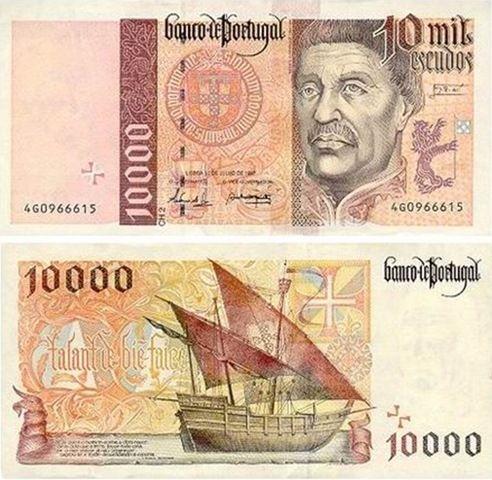 Portugal - 10000 escudos – Infante D. Henrique Entrada em circulação: 22-10-1996 Retirada de circulação: 28-02-2002