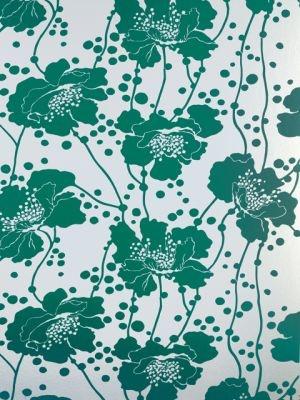 florence broadhurst teal green print design.jpg #polliinspire