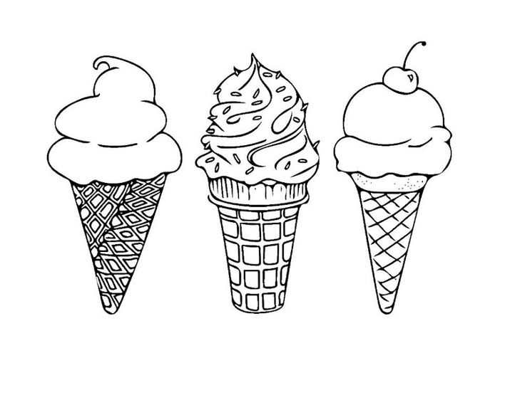 Pin by Marina Marchenko on раскраска | Ice cream coloring ...