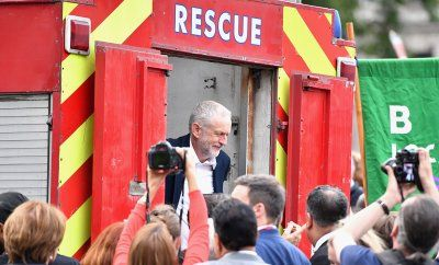 Before and after Brexit: Photo highlights of British politics in 2016:      Brexit:   Labour leader Jeremy Corbyn after delivering a speech during Momentum's 'Keep Corbyn' rally outside the Houses of Parliament, after seeing mass resignations from the Shadow Cabinet in the wake of the UK Vote for Brexit on 27 June 2016.   Jeff J Mitchell/Getty Images