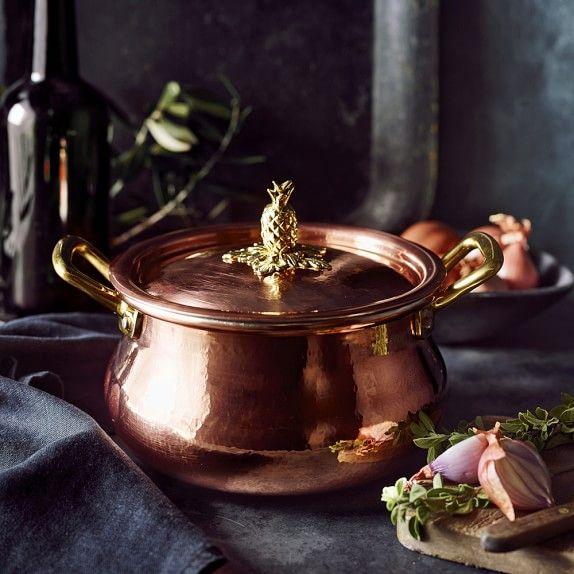Ruffoni Historia Copper Stock Pot with Pineapple Knob | Williams-Sonoma