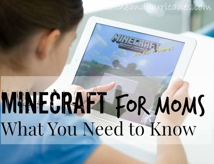 Minecraft for Moms- All your questions answered and tons of information about the game of Minecraft. Don't shrug your shoulders and look away, you need to know this stuff, Moms! Minecraft for Moms – What You Need to Know