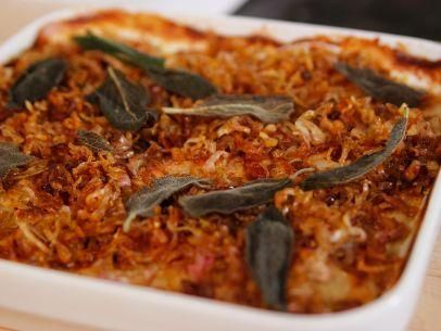 """Eleven-Layer Potato Gratin (A Barefoot Thanksgiving) - Bobby Flay, Guest On """"Barefoot Contessa"""" on the Food Network."""