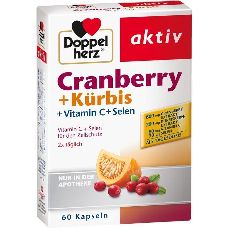 DOPPELHERZ Cranberry+Kürbis Kapseln:   Packungsinhalt: 60 St Kapseln PZN: 07625074 Hersteller: Queisser Pharma GmbH & Co. KG Preis: 8,06…