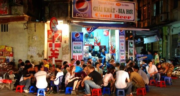 Things to do in Hanoi Vietnam - have a local brewed beer at a Bia Hoi