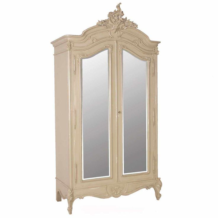 Normandy 2-Door Mirrored French Armoire | Armoire
