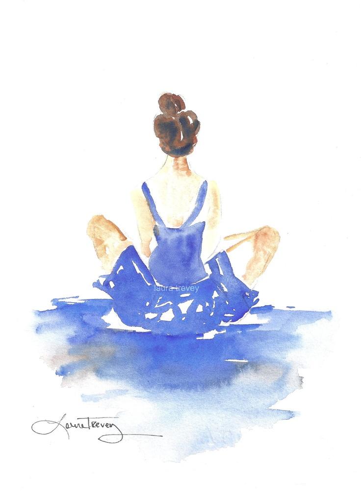 Dancer in Watercolor. $48.00, via Etsy.