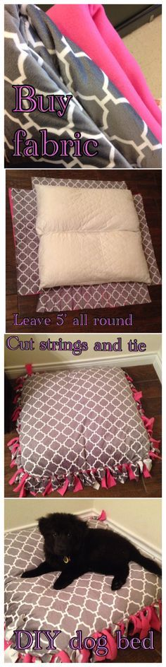 DIY no sew dog bed!