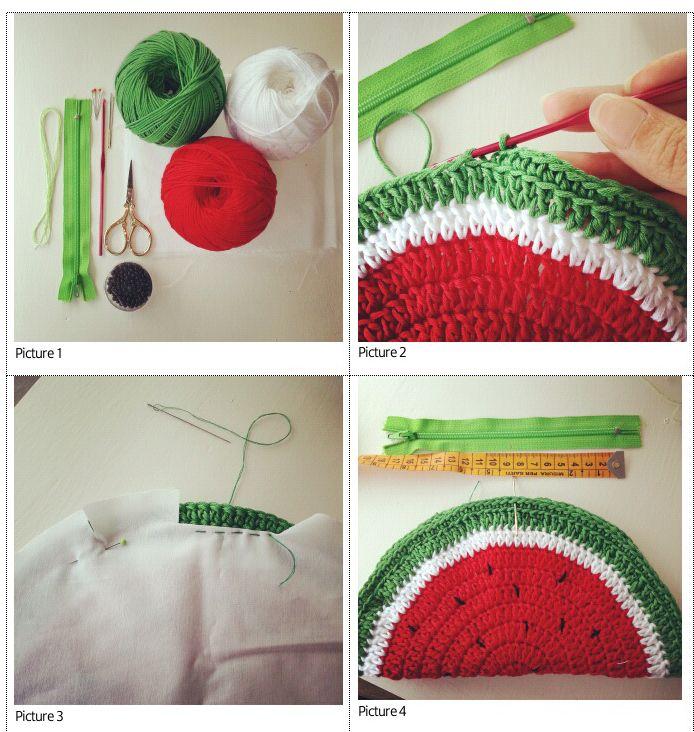 Fabcroc: Free pattern - Watermelon coin purse crochet