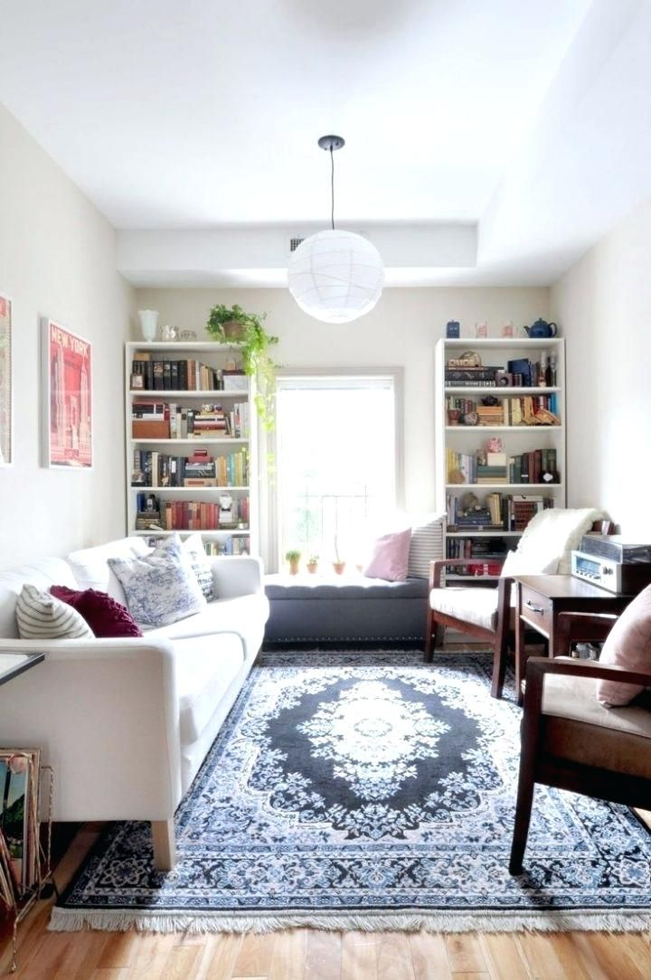 Image Result For Thin Livingroom Apartment Therapy Small Spaces Small Apartment Living Small Apartment Living Room