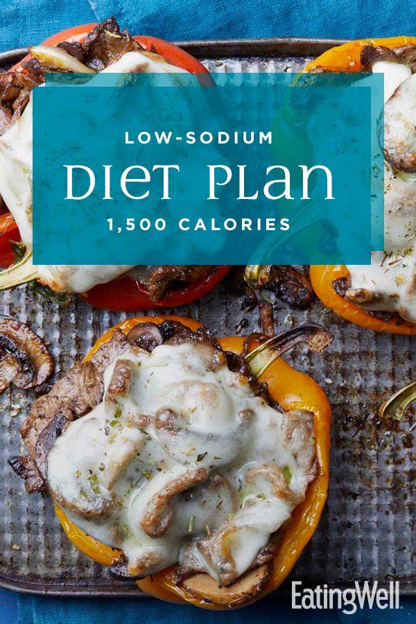 Low-Sodium Diet Plan: 1,500 Calories | Low sodium diet plan, Heart healthy  recipes low sodium, Low salt diet