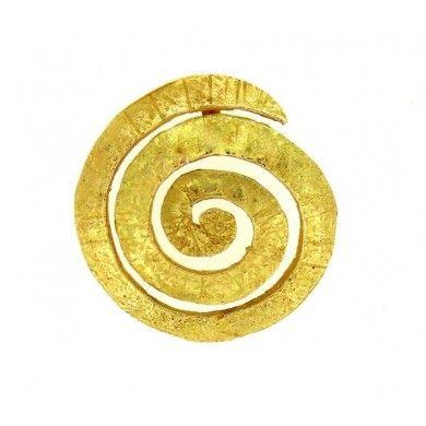 Ciondolo spirale oro giallo 750%°stile etrusco