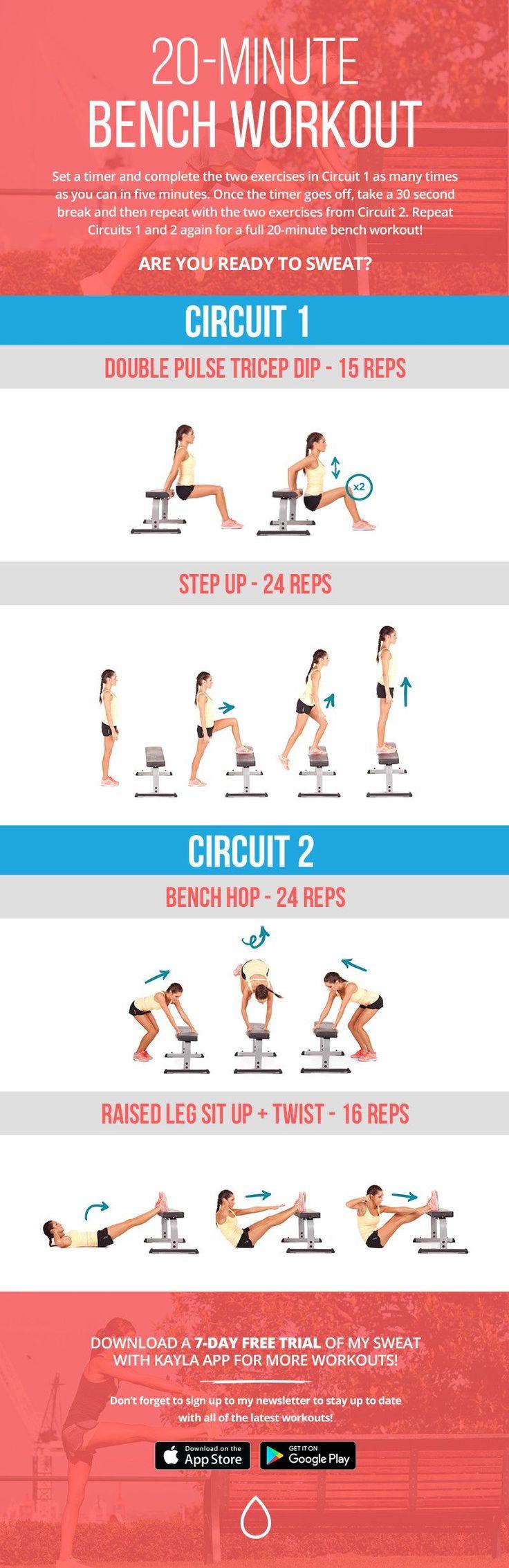 20-Minute Bench Workout! – Kayla Itsines