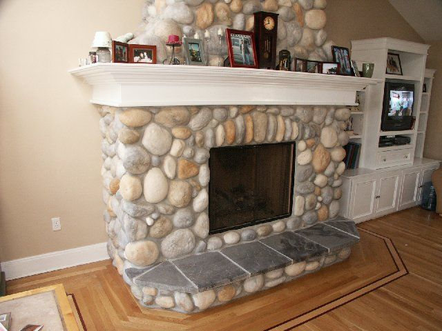River Rock Fireplace Remodels Google Search Fireplaces Mantels And Hearths Pinterest