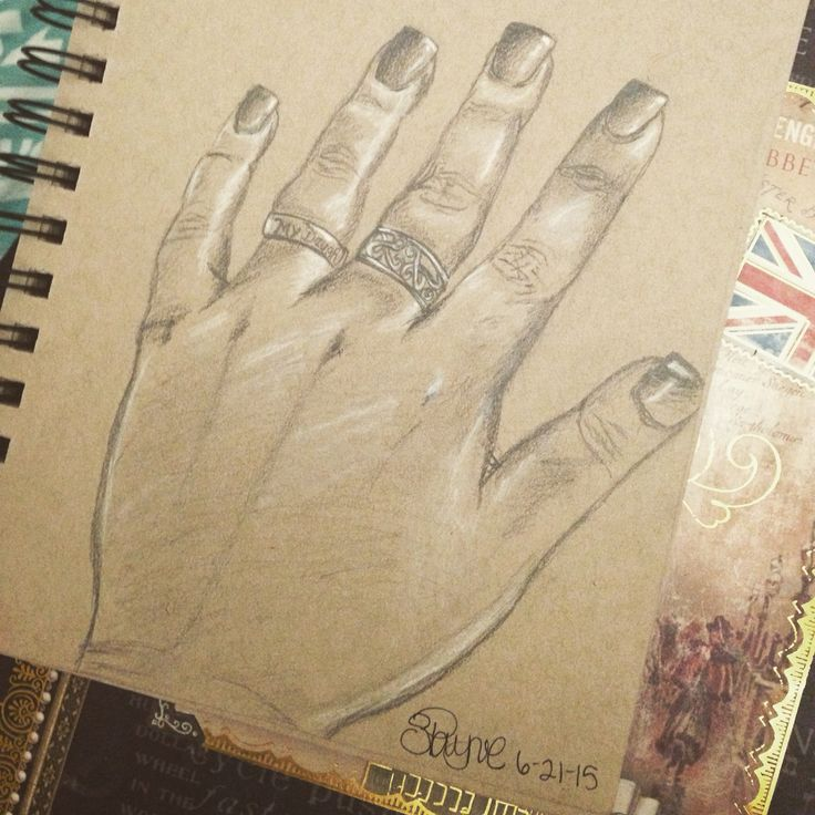 A simple sketch of my hand :)
